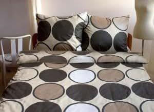 3 tlg mako satin bettw sche retro beige braun 155x220 cm bedding set brown k che. Black Bedroom Furniture Sets. Home Design Ideas