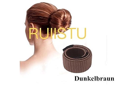 ruiistu perruque hairdisk Fashion cheveux chignon aide mariée coiffure coiffure Hair Bun Maker Styling Outil marron foncé