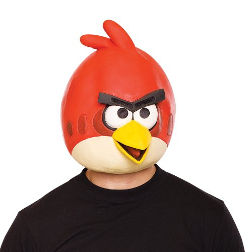 Paper Magic Angry Birds rote Latexmaske Kostüm