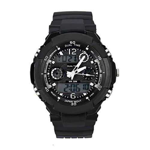 orologio digitale, FEITONG orologio al quarzo gomma impermeabile di LED