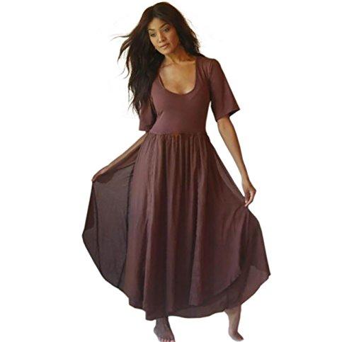 LOTUSTRADERS Damen Doppellagiges Kleid Braun