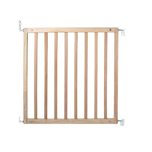 Bettacare Simply Secure Wooden Screw Fit Gate (Natural) Bettacare Adjusts to fit openings from 72cm - 79cm Screw fit wooden gate in 5 colours; White, Natural, Grey, Black and Azure Blue One handed operation. Opens in both directions 2