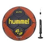 Hummel Elite Handball Größe 2 / 3 im Set mit Ballpumpe (ombre blue/nasturtium 8741, 2)