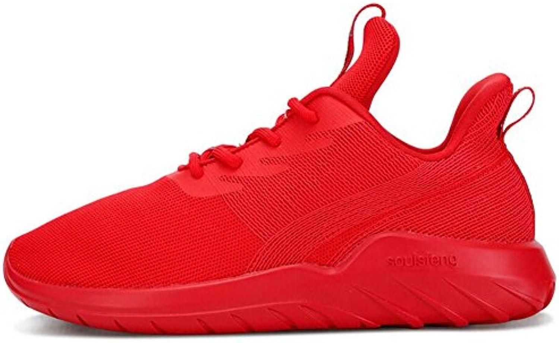 Amantes de Punto Sneakers Otoño/Invierno con Cordones Low-Top Outdoor Running Shoes Hombres/Mujeres Malla Comfort...