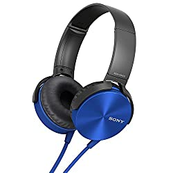 (CERTIFIED REFURBISHED) Sony MDR-XB450AP Extra Bass Headphone (Black/Blue)