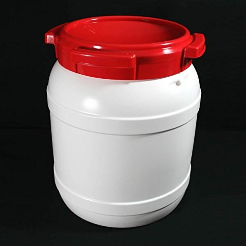 15 Litre 7015 Plastic Waterproof Airtight Watertight Storage Keg Drum Barrel - UN Approved Open Top Wide Mouth Jar - Food Liquid Oil Storage - Kayak Caving Canoeing Watersports Time Capsule