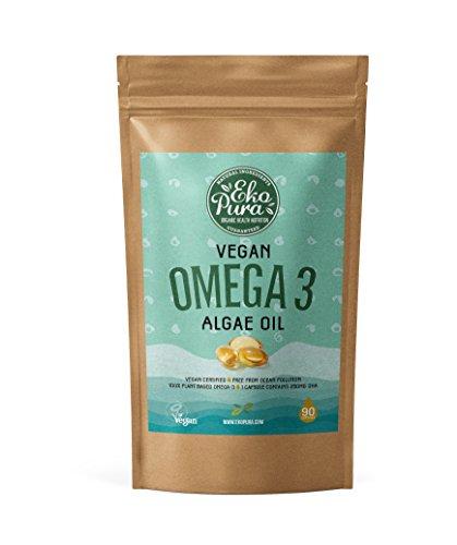 Veganes Omega 3 - Algenöl - 250mg DHA/Kapsel - 90 Kapseln (3-Monatsvorrat) - Pflanzlich, nachhaltig, besser als Fischöl - Besten Der Die Mailbox