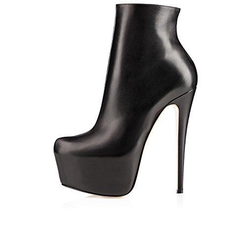 Kolnoo , chaussures compensées femme Schwarz
