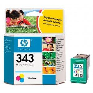 Original Tinte HP Nr 343 C8766EE - 1 Tinten-Patrone - Cyan, Magenta, Gelb - 260 Seiten - 7 ml -