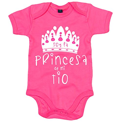 Body bebé Soy la princesa de mi tío - Rosa, 6-12 meses