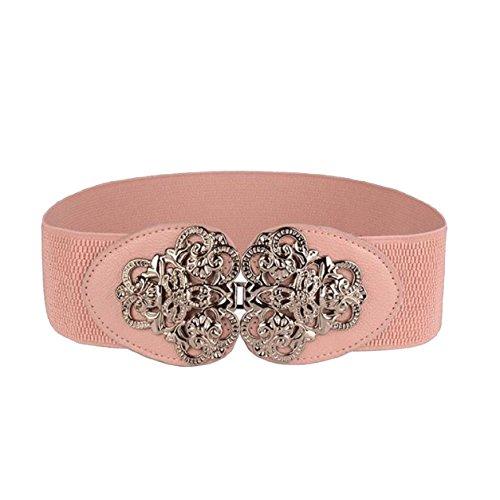 Malloom® Sra estilo bohemio cinturón elástico retro (rosa)
