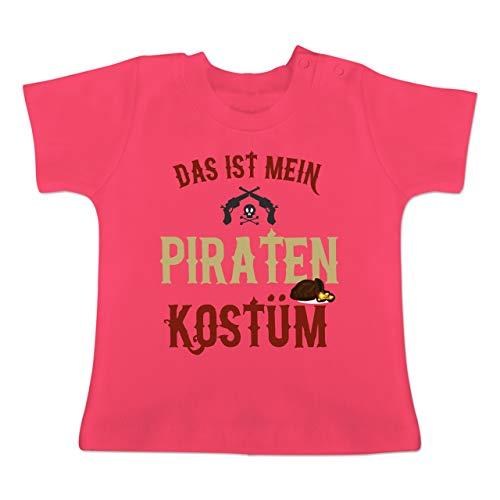 Karneval und Fasching Baby - Das ist Mein Piraten Kostüm - 18-24 Monate - Fuchsia - BZ02 - Baby T-Shirt Kurzarm