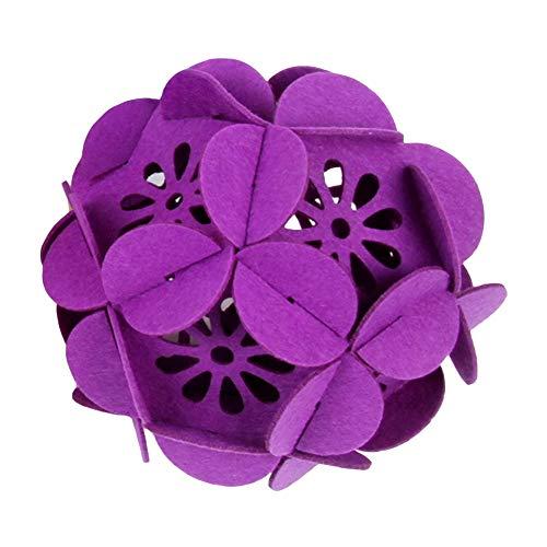 Feida Hängende Blumenkugel für Zuhause, Hochzeit, Weihnachten, Filz, Hohl, DIY Dekoration, Partyzubehör violett