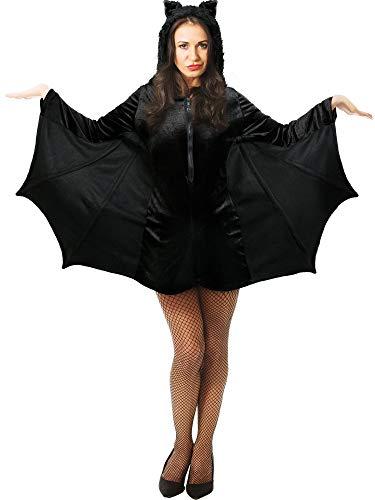 Boao Halloween Fledermaus Kostüm Erwachsenen Fledermaus Kostüm Vampir Fledermaus Kostüm für Frauen Mädchen Halloween Party Gefallen (L)