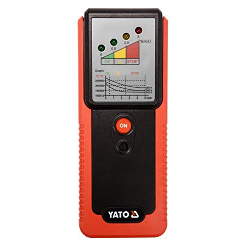 Yato Profi Digitaler Bremsflüssigkeitstester | mit Sonde | 9V | DOT3 DOT4 DOT5 | 4 LEDs | automatische Diagnose Bremsflüssigkeitsmesser