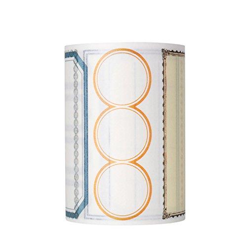 molshine Washi Masking Tape, Sticky Papier Klebeband zum Basteln, mit Deko-Objekt Verschönerung, Handwerk, Geschenkverpackungen, Scrapbook Label pattern