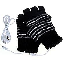 zolimx 5V USB Powered invierno mano lavable guantes más calientes de la calefacción