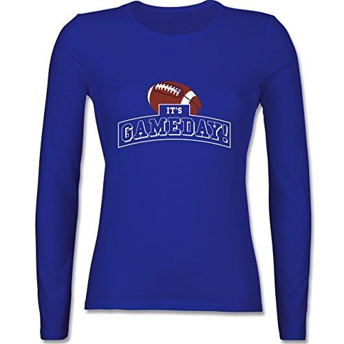 Shirtracer Sonstige Sportarten - It's Gameday Vintage Football - Damen Langarmshirt Royalblau