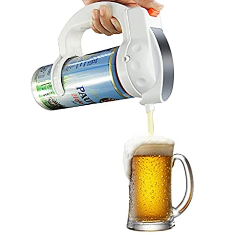 Beer Foamer,Dpower Ultra Sonic Vibration Beer Cans Foamer Battery Powered Beer Cans Foam Bubble Maker Beer Foamerfor Home Kitchen/Bar Beer Keg Appliance Beer Gadget