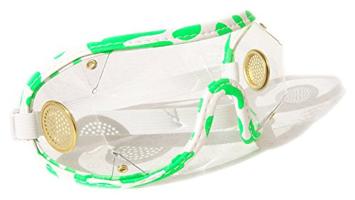 ockey National Hunt Punkt zu Punkt Brillen | Messing Vent, White/Green with Clear Lens (Horse Racing Brille)