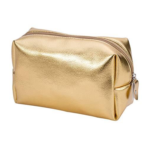 Beauty case da viaggio per donne e uomini, borsetta da toilette, colore oro