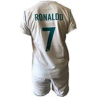Kit Complete et Pantalon Maillot Football Real Madrid Cristiano Ronaldo 7 Réplique Autorisierte Enfant Jeunes Hommes
