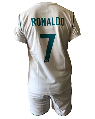 Complete Kit Shorts e Socks T-Shirt Jersey Futbol Real Madrid Cristiano  Ronaldo 7 Replica Official 2017-2018 Adult Child (Size 8 Years) - Buy  Online in UAE. 6c51fc998
