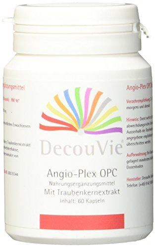 DecouVie OPC Kapseln hochdosiert in Apothekenqualität I Traubenkern-Extrakt Gel-Kapseln I hochwertige Oligomere Proanthocyanidine für Herz, Kreislauf und Gefäße I Starkes Antioxidans