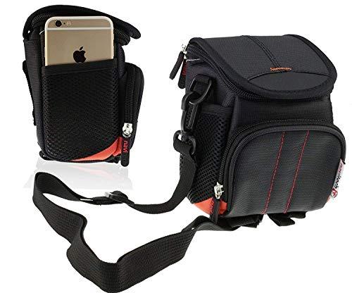Navitech Schwarze Wasser wiederständige Digital Kamera Tasche für das Panasonic DMC-FZ200 / LUMIX CM1 / DMC-LX100EBK/ DMC-LX100
