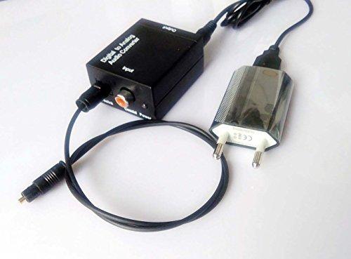 Easyday Toslink Optical Koaxial Digital zu Analog RCA Audio Converter Konverter Digital Koaxial Rca
