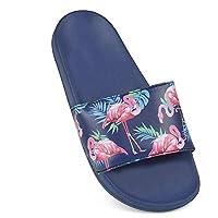 Sand Rocks Womens/Ladies Flamingo Print Flip Flops/Sliders (6) (Blue)