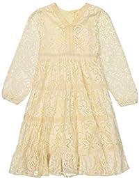 Masala Baby Little Girl's Mara Dress Lace Dress, Vanilla, 2Y