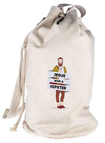 bedruckter Seesack Umhängetasche Schultertasche Beutel Bag Jesus Was A Hipster Natur