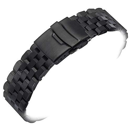 ersatz Edelstahl uhrenarmbänder 20mm uhrenarmbänder Black Metal Watch Armband Armband Herren Frauen - Invicta Replica Watches
