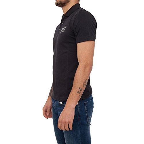 Emporio Armani T-Shirt Polo in Cotone con Logo EA7 Uomo Manica Corta P/E18 MOD. 3ZPF52 XXL