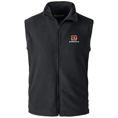 low priced 6072d c8989 Dunbrooke Apparel NFL Cincinnati Bengals Herren Weste Houston Fleece,  Schwarz, 5XL