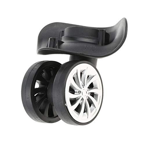 F Fityle 1 Paar 360° Schwenkbar Ersatz Gepäck Räder Roller Lenkrollen Ersatz Rollen für Trolley Reisekoffer -