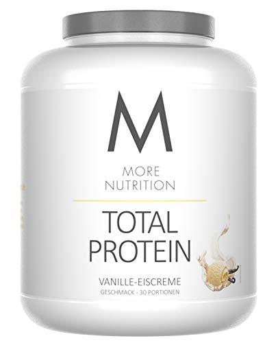 More Nutrition Total Protein - Whey & Casein Zur Optimalen Proteinsynthese 1 x 1500g (Vanille Icecream) -