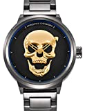 Pagani Design 3D Skull Herren-Armbanduhr Business Casual Luxus Marke Wasserdicht Massiv Edelstahl Persönlichkeit Armbanduhr