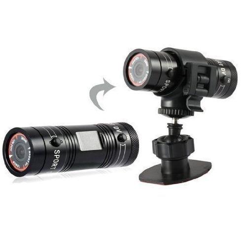 Yuyitec Mini Sports Caméra Full HD 1080p Action étanche Sport Casque vélo pour caméra vidéo DVR Vidéo AVI support caméscope 32Go carte TF Idéal pour l'escalade Ski d'équitation, etc.