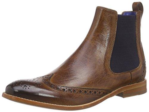 Melvin & Hamilton Damen Amelie 5 Chelsea Boots, Beige (Classic Tan/Ela.Navy/LS), 37 EU -