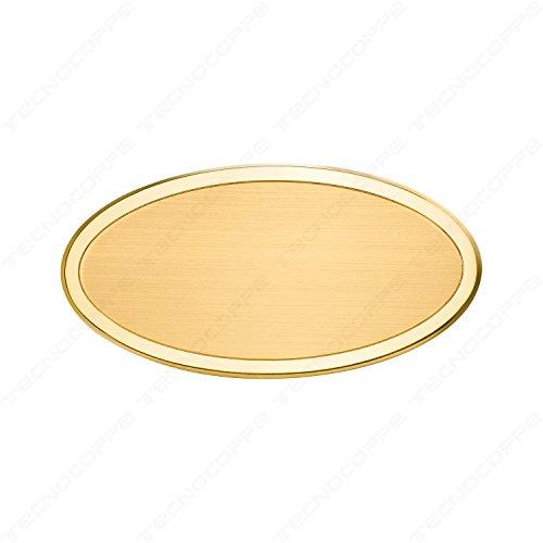 Targa ovale da porta in ottone 14,5x7,5 cm incisione (Ottone Ovale Porta)