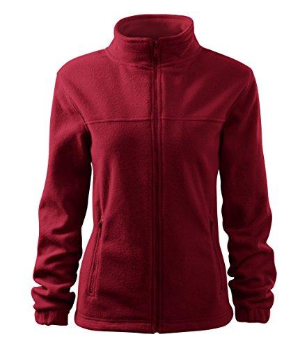 OwnDesigner by Adler Damen Elegante Fleecejacke Outdoor Pullover Fleece (504-Rot-XXL) (Pullover Adler)