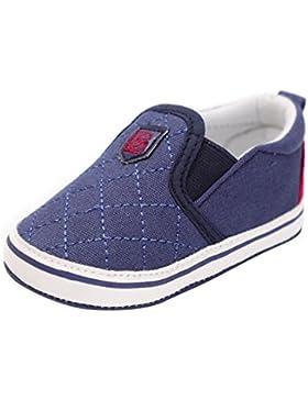 Minuya Neugeborenes Baby Jungen Mädchen Weiche Sohle Schuhe Lauflernschuhe Krabbel- & Hausschuhe 0-18 Monate