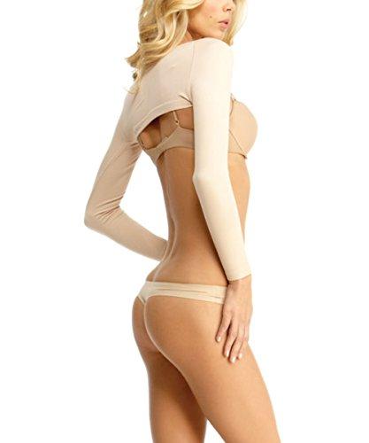Slimme by Memoi donna modellante braccio Shapers Nude XL Beige