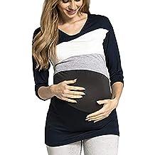 STRIR Camiseta De Mujeres Ropa para La Lactancia De Maternidad De Raya para Mujeres Las Mujeres