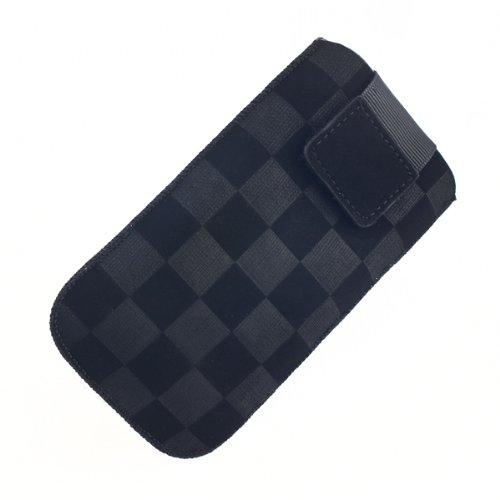 NFE² Etui offen - schwarz - mit Ausziehlasche und flacher Gürtelschlaufe für Samsung SGH-D780