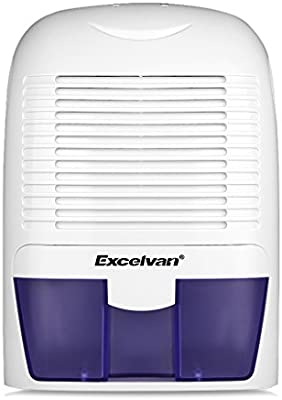 Excelvan - 1500ml Mini deshumidificador de aire , Secadora portátil, con Tanque de Agua Individual, Apaque automaticamente, Bajo Consumo, para officina, baño, casa