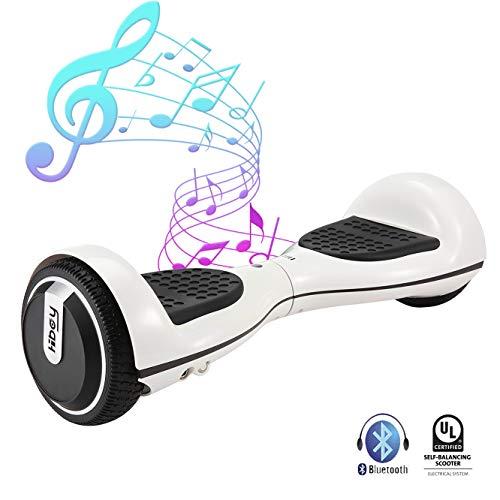 """Hiboy Balance Scooter Elektro Scooter 250W mit UL2272 Zertifikat, Bluetooth Lautsprecher 3.5W, 6,5\"""" Räder, TW01S - Weiß"""