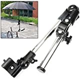 Umbrella Holder Mount Stand Connector for Cycle Bicycle Golf Bike Wheelchair Pram Pushchair Stroller Chair in Black